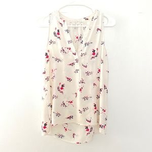 Joie XS Silk Sleeveless Bicycle Floral Tank Top